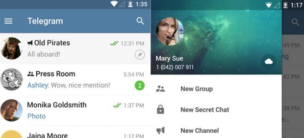 Telegram launched the call function (while in test mode) 57