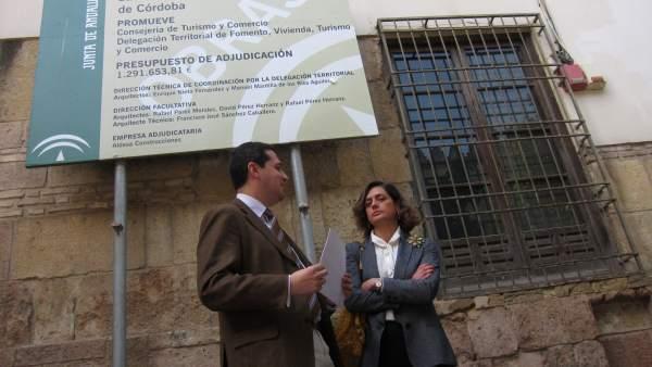 José María Bellido con Elena Martínez