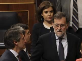 Rajoy, en el Congreso durante el debate de la estiba