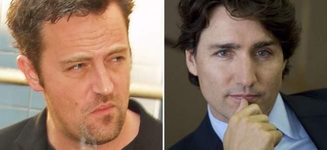 Mathew Perry y Justin Trudeau