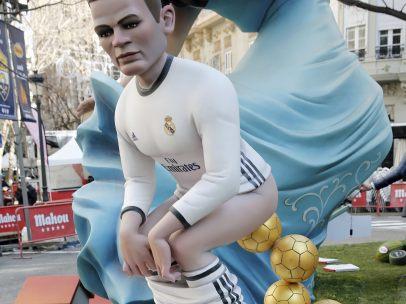 Un ninot de Ronaldo muy cagón