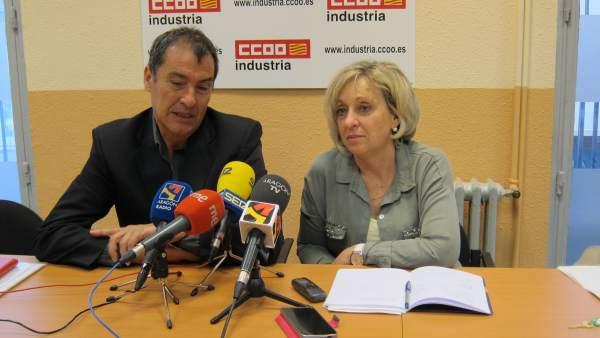 Chema Fernando y Ana Sánchez, de CC.OO. Aragón
