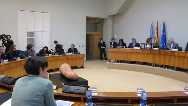 Constituida la comisión de las cajas en el Parlamento de Galicia.