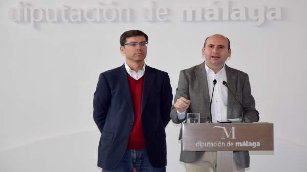 Francisco Conejo Diputación de Málaga con Cristobal Fernández diputado PSOE