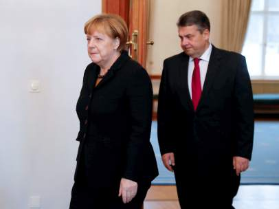 Merkel y Gabriel