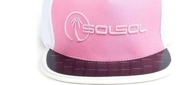Gorra de energía solar