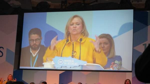 Mercedes Fernández, en el Congreso Regional del PP de Asturias.
