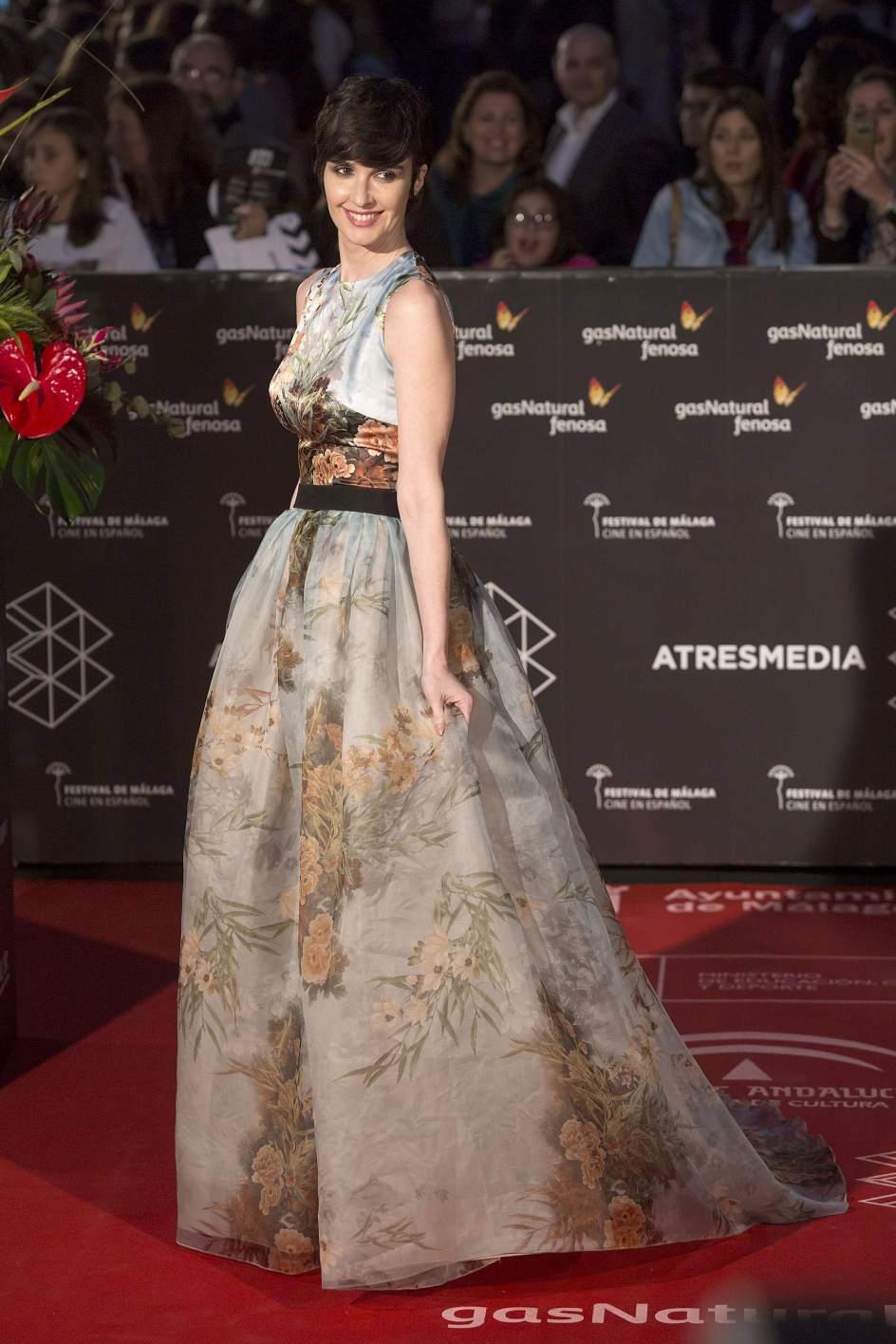 Paz Vega. La actriz Paz Vega posa a su llegada a la gala inaugural de la vigésima edición del Festival de Málaga de Cine Español.