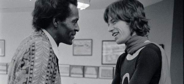 Chuck Berry y Mick Jagger
