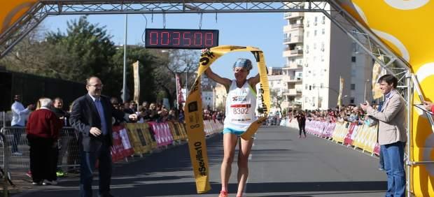 La ganadora en femenino de la Popular Nervión-San Pablo