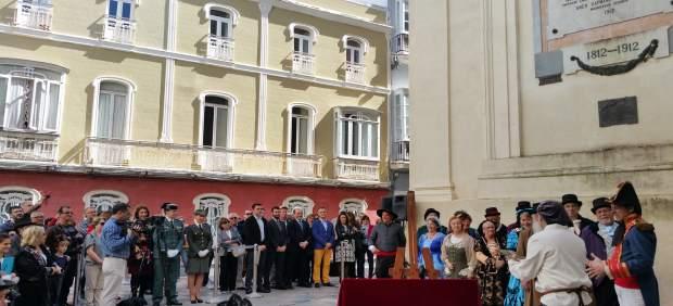 Homenaje a las Cortes con motivo del 205 aniversario de la Constitución