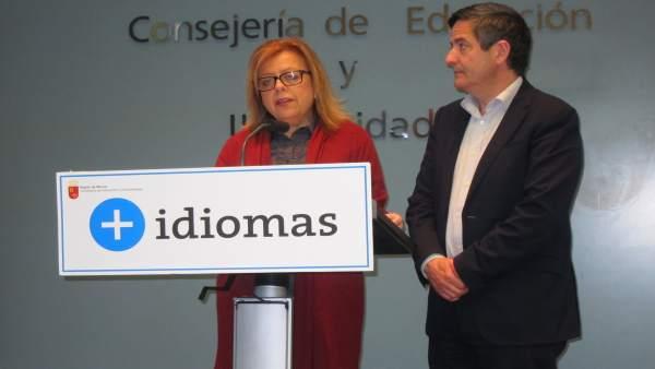 Consejera de Educación, Isabel Sánchez-Mora junto a Ujaldón