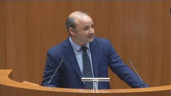El procurador de Ciudadanos David Castaño