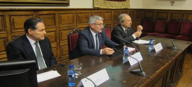 Por la izquierda, Royo, Granda y López.