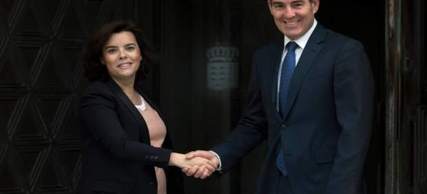El presidente Clavijo recibe a la vicepresidenta del Gobierno
