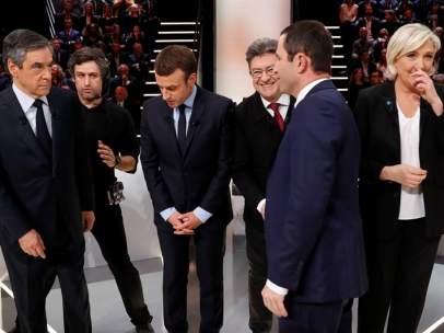 Debate presidenciales en Francia