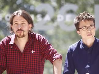 Pablo Iglesias e Íñigo Errejón