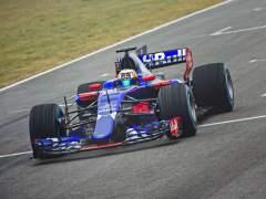 El Toro Rosso, en acción en Montmeló