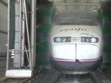 Así lavan los trenes en Renfe