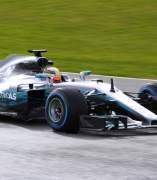 Hamilton, en su Mercedes
