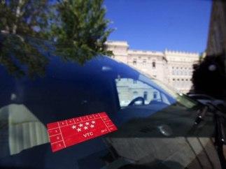 Pegatinas Cabify y Uber