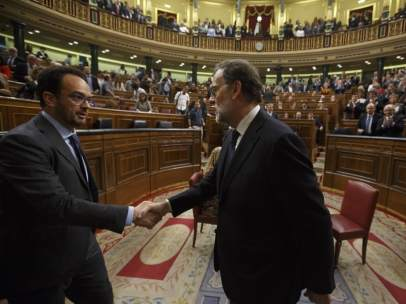 Mariano Rajoy y Antonio Hernando
