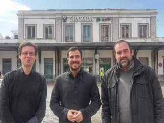El coordinador federal de IU, Alberto Garzón, en Granada
