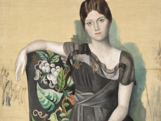Pablo Picasso - Portrait d'Olga dans un fauteuil, Montrouge, printemps 1918