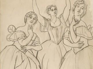 Pablo Picasso - Trois danseuses: Olga Khokhlova, Lydia Lopoukova et Loubov Chernicheva, d'après une photographie, Début 1919