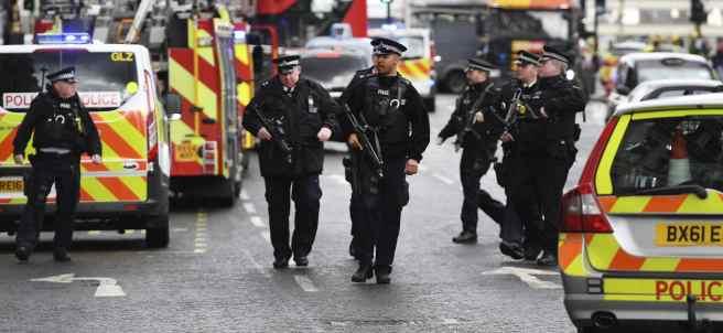 Policía desplegada en el centro de Londres