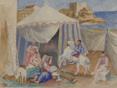 Pablo Picasso - Cirque forain, décembre 1922