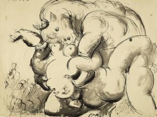 Pablo Picasso - Minotaure violant une femme, 28 juin 1933