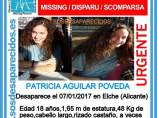 Cartel de búsqueda de Patricia Aguilar.