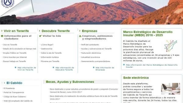 Portal web del Cabildo de Tenerife