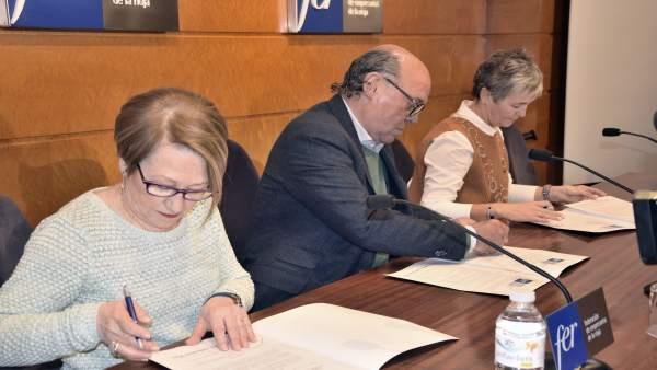 Firma del convenio FER-ASPRODEMA