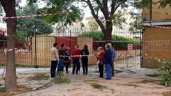 Visita al barrio de Hermandad del Trabajo.