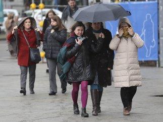 Intenso frío en Madrid