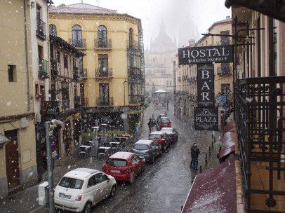 Intensa nevada en Segovia