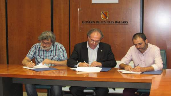 Biel Caldentey, Marti March y Toni Baos