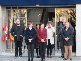 Concentración junto a la sede del Gobierno vasco en San Sebastián.