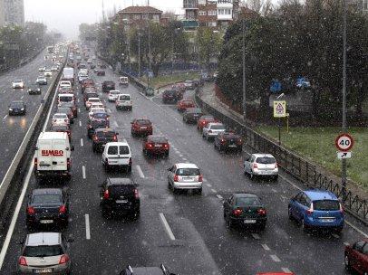 Copos de nieve en Madrid