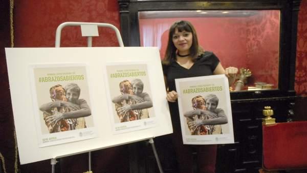 Jemi Sánchez presenta la campaña 'Abrazos abiertos'