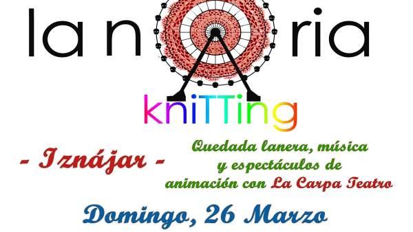Cartel de 'La Noria Knitting' de Iznájar