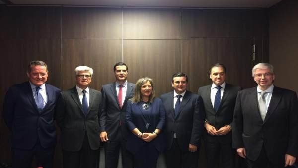 Reunión de los delegados de la zona franca