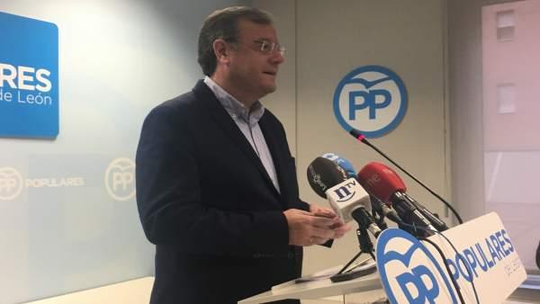 León. Antonio Silván en rueda de prensa