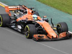 Fernando Alonso, durante las tandas libres de Australia.