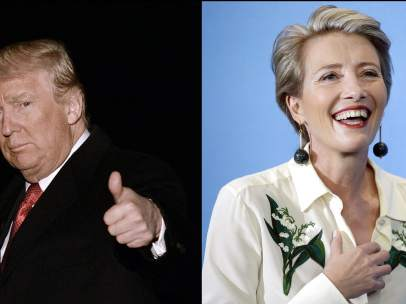 Donald Trump y Emma Thompson