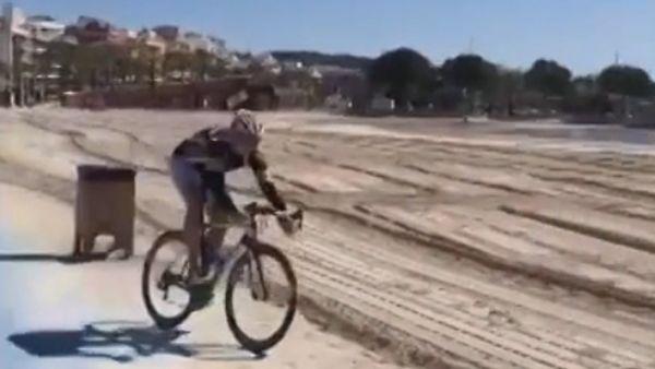 El fatal resultado de acceder en bici a la playa