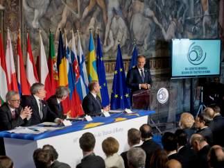 """Los líderes de la UE reafirman el Tratado de Roma y piden unidad: """"Si no, Europa no será nada"""""""