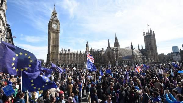 Protesta contra el 'brexit'